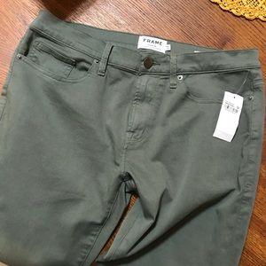 Frame Denim Jeans - FRAME L'Homme Slim Green Denim Pants